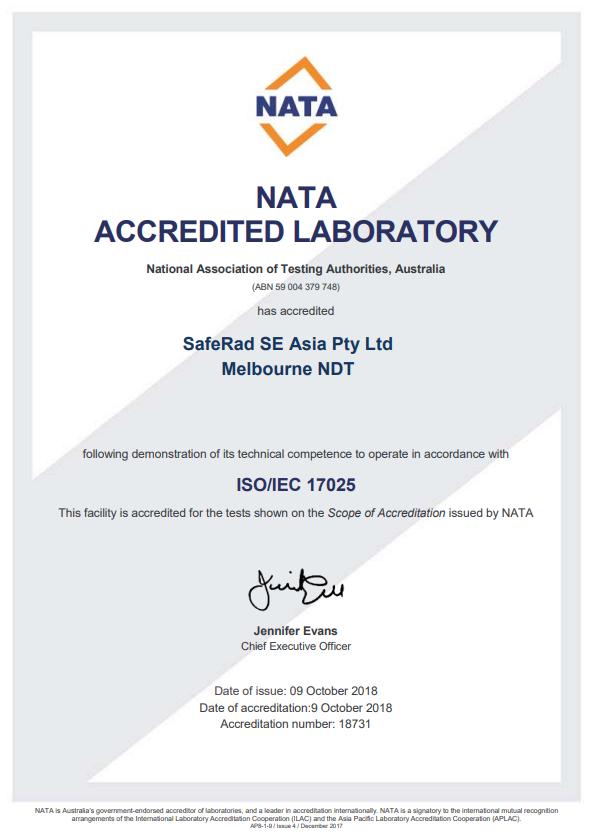 saferad-melbourne-certificate